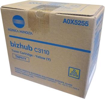 Konica Minolta BIZHUB C3110 YELLOW TONER CARTRIDGE 6K