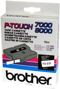 Brother TZ-263 P-Touch Tape (blue on white 36mm) TZ263 Original