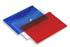 Rexel Popper Carry Folder A4 Translucent Assorted 16129AS (Pack of 5)