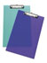 Rapesco Frosted Transparent Clipboard Assorted SHPPCBAS (Pack of 10)