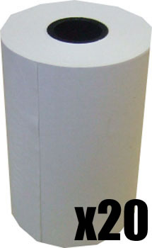 60 x 40 Credit Card Paper Rolls Thermal (Box of 20 Rolls)