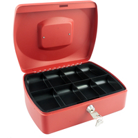 Cash Box 10 inch Red with solid steel construction by Cathedral