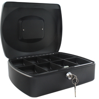 Cash Box 12 inch Black with solid steel construction by Cathedral