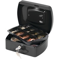 Cash Box 8 inch Black with solid steel construction by Cathedral