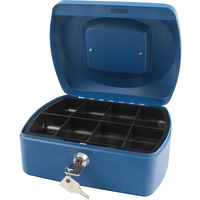 Cash Box 8 inch Blue with solid steel construction by Cathedral