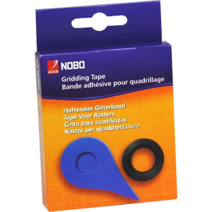 1901119 Nobo Gridding Tape 1.5mm x10 Metres Red