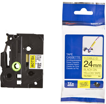 BROTHER 24mm COMPATIBLE WITH BLACK//SILVER TAPE TZM951 FOR P TOUCH PT PRINTER