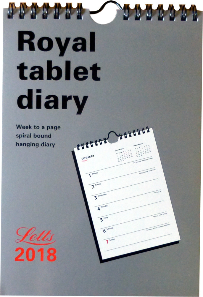 Collins Desk Diary A4 Page a Day 44 Red 2018